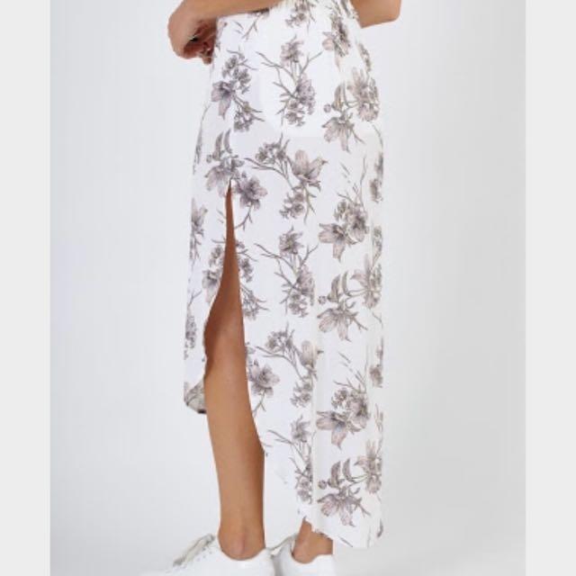 Women's Ladies SUPRÉ shirt Tail Midi skirt