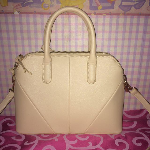 ZARA Saffiano Leather Mini City Bag