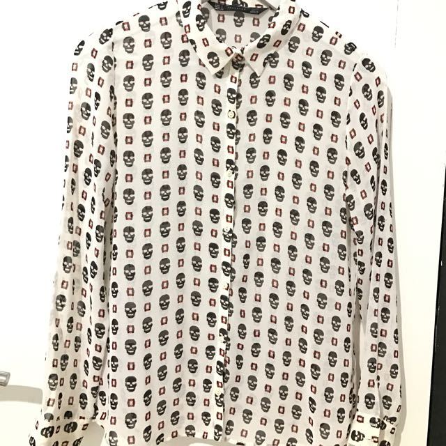 Zara TRF Skull Shirt