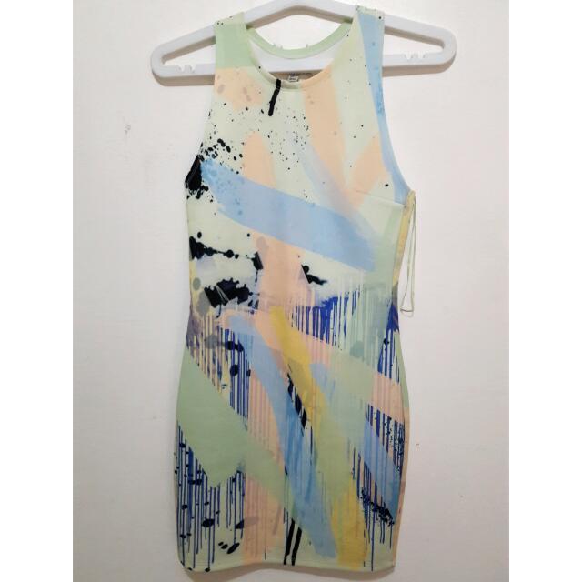 Zara Watercolor Dress (S)