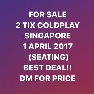 COLDPLAY SINGAPORE TICKETS