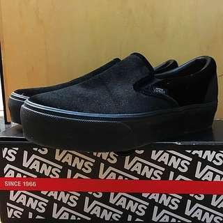Vans Black Velvet Slip On