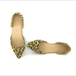 Pointed Flats (animal Print)