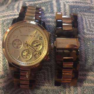 Tortoise Shell Michael Kors Watch