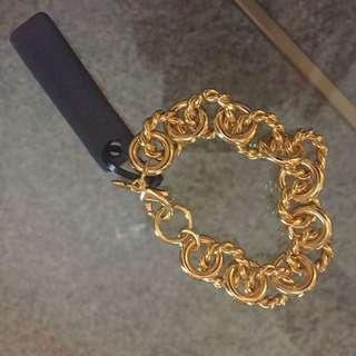 Gold Link J Crew Bracelet