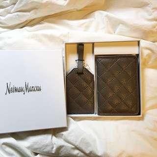 Neiman Marcus Passport Holder And Luggage Tag