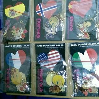 APH 同人 吊飾 良子 法國 美國 西班牙 羅馬諾 挪威 香港 中國