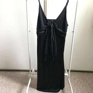 Armani Exchange Black Silky Dress (S)