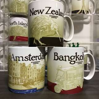 FT: Starbucks Icon Mug NZ BKK Amsterdam 1