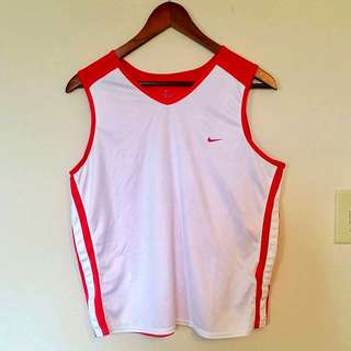 Nike Top White And Orange
