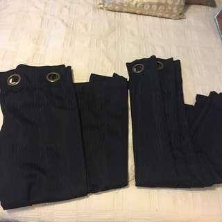 Set Of Black Curtains