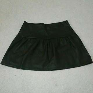 Black Faux Leather Skirt From Zara
