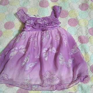 Purple Satin Baby Dress