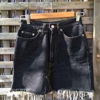 VINTAGE LEVI's Black Denim Skirt