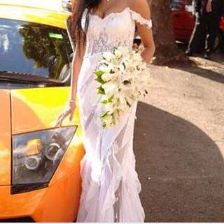 Lora Ellis Couture Wedding Dress Size 6