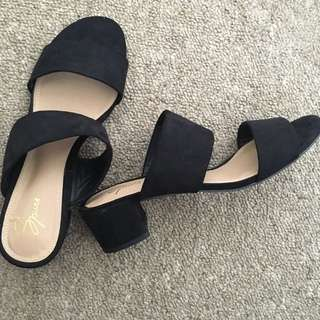 Microsuede Heels