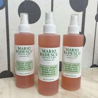 全新現貨 Mario badescu 玫瑰蘆薈保濕噴霧- 大瓶8oz.