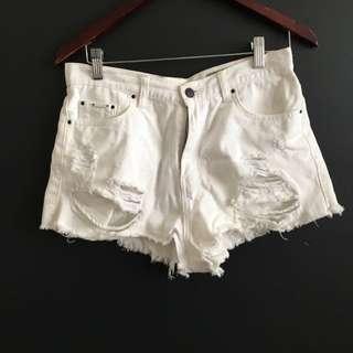 Lyla And Co White Shorts