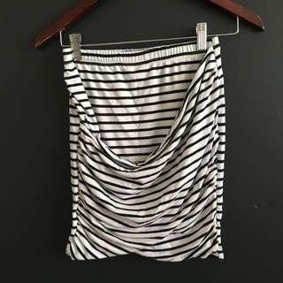 Stripped Twist Skirt
