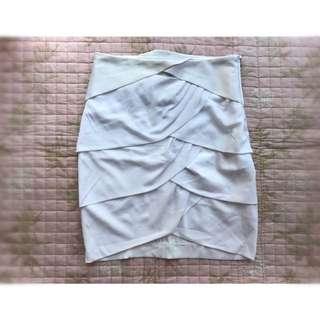 Blanc Noir White Pencil Skirt