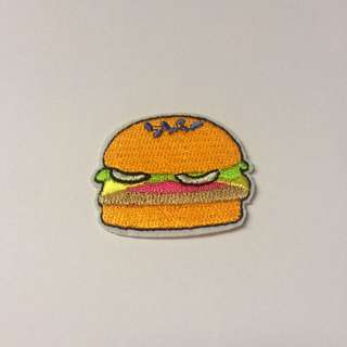Iron-on Burger Patch!