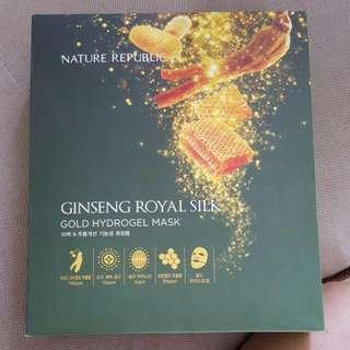 Box Of 10 Nature Republic Ginseng Royal Gold Hydrogel Mask