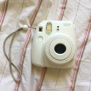 White Instax Mini 8 Polaroid Camer