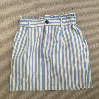Pinstriped Skirt
