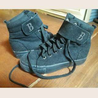 Black Highcut Sneaker