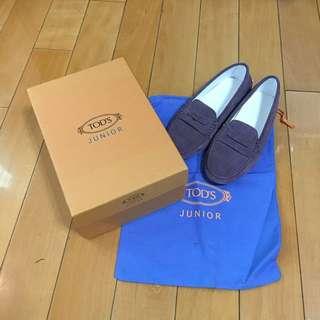 Tod's 藕色大童豆豆鞋 size:34