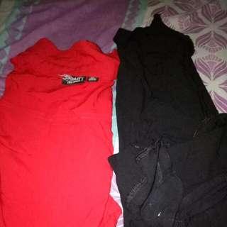 Kemeja Wanita Black N Red