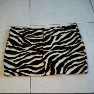 💝REPRICED! Zebra Print Skirt