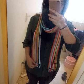 彩虹色系薄圍巾 #運費我來出