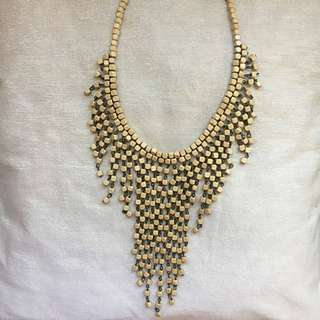 Wooden Statement Necklace (perfect for summer)
