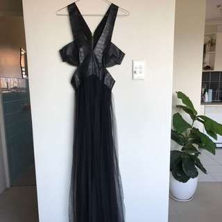 Shakuhachi Dress Black Floor Length Dress Size 8