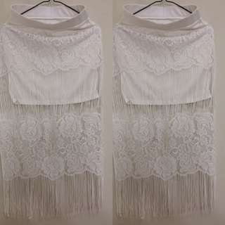 Long Skirt Hippeace White