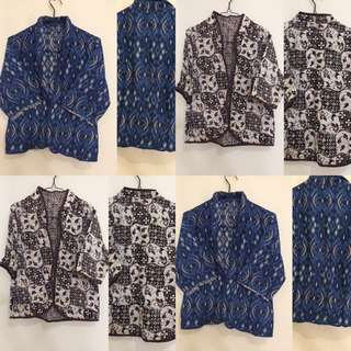 Blazer Batik Brown And Blue