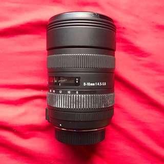Sigma Lens 8-16mm