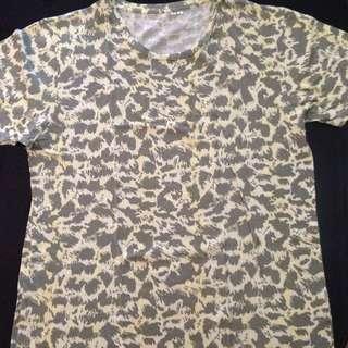 Uniqlo Leopard Pop Art Shirt