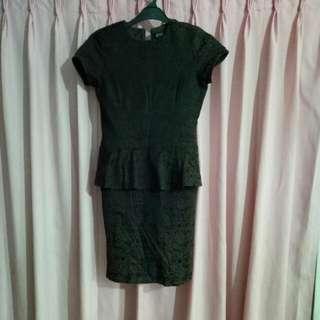 Peplum Motif Dress
