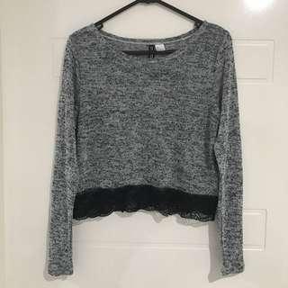 H&M Grey Cropped Sweater