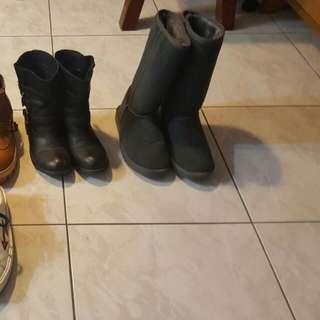 韓ollie長筒內增高雪靴24.5(含運)