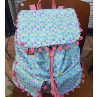 Colourful Pineapple Drawstring Backpack
