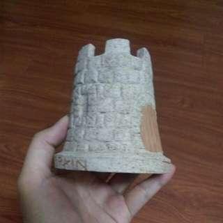 西班牙陶瓷城堡筆筒