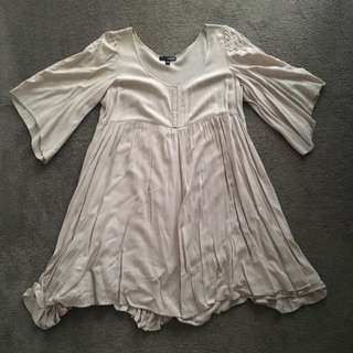 Shift Dress With Sleeves