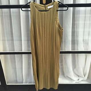 Slide Show Pleated Dress