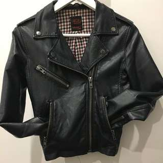 Leather Jacket Neon Hart Pleather