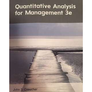Quantitative Analysis For Management 3e