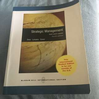 Strategy Management Textbook Academic Mcgraw