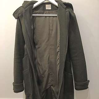 Nique Wool Coat Khaki Price Negotiable